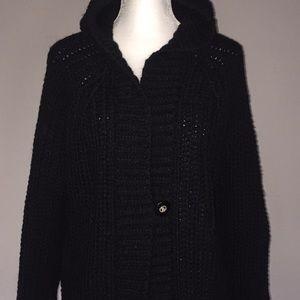 Jackets & Coats - Hooded knit jacket with fringes NWT
